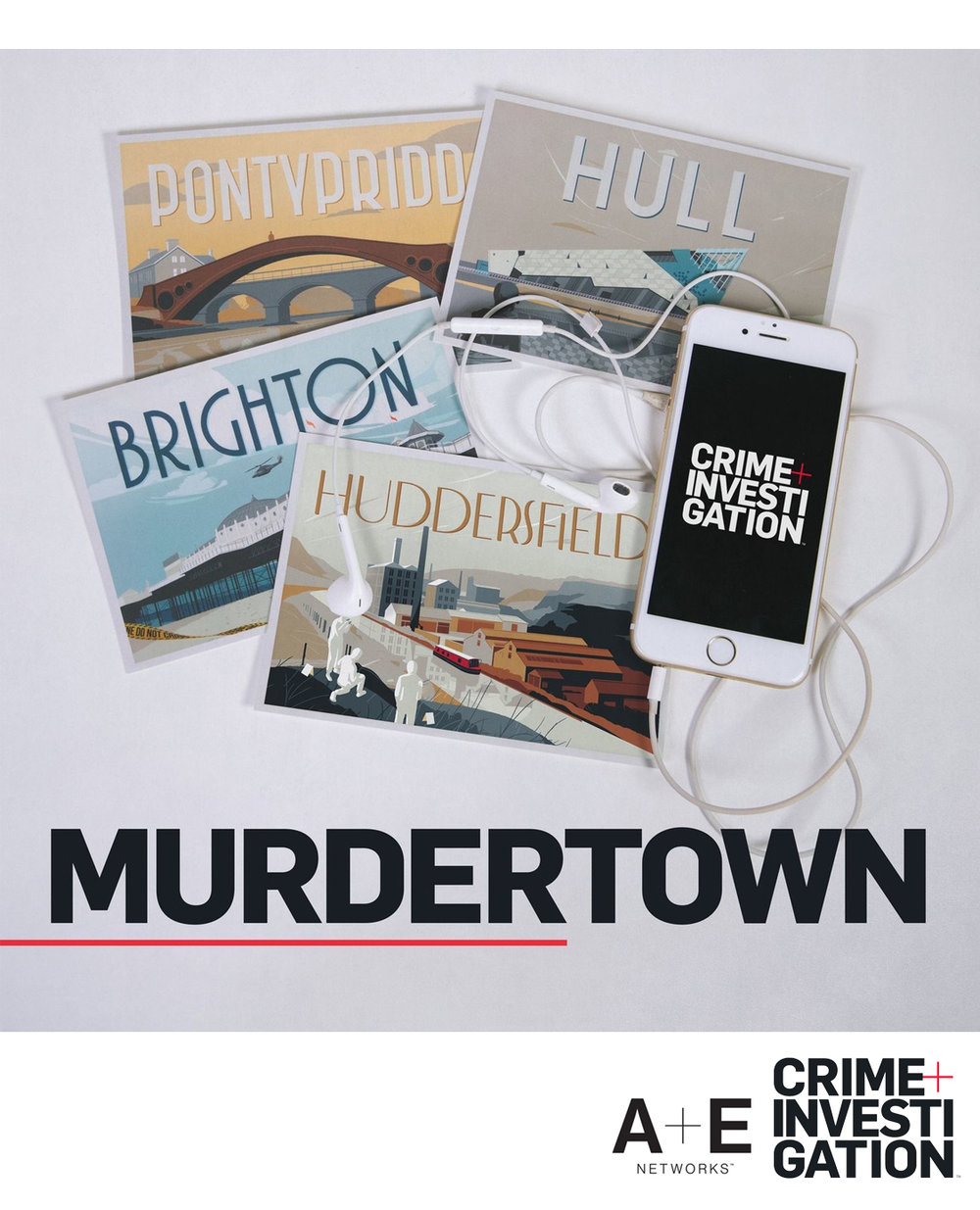 10 Part Scripted Podcast Series - RESEARCH & SCRIPTWRITINGTO RUN ALONGSIDE THE A+E Crime & Investigation TV SERIES 'MURDERTOWN'