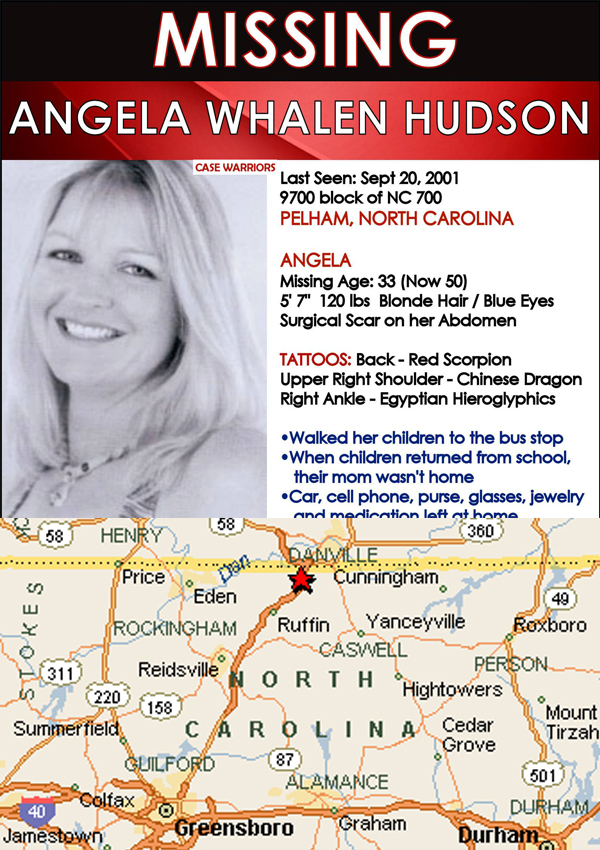The Disappearance of Angela Whalen-Hudson - Co-written for: The Vanished Podcast