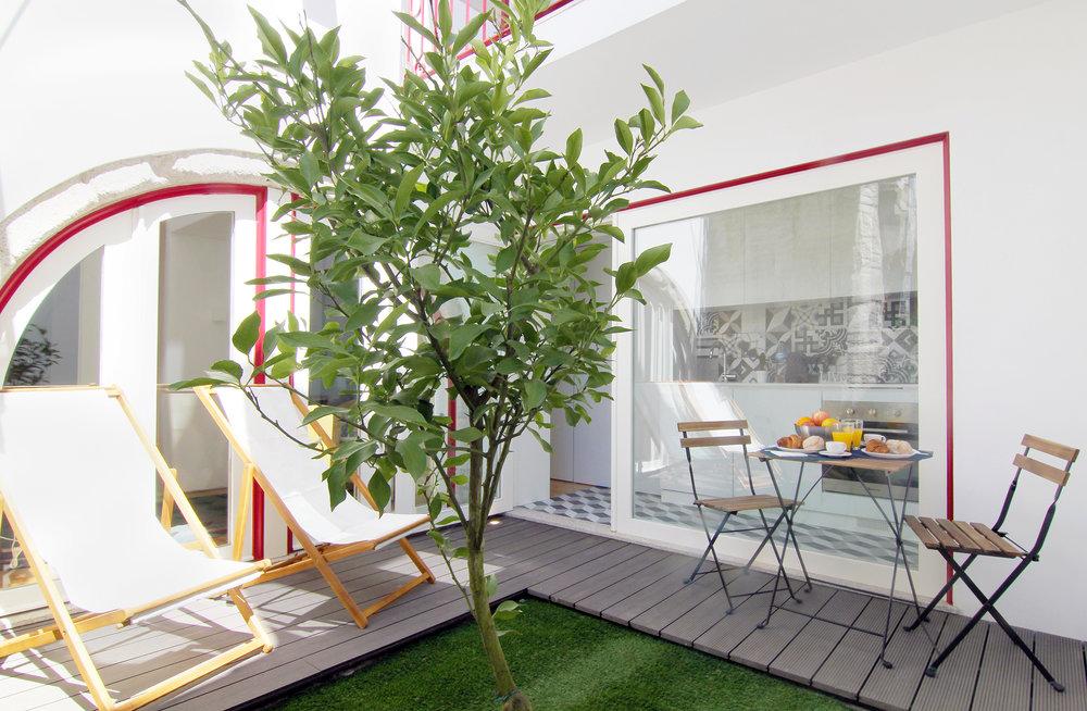 Studio with garden Centre Porto
