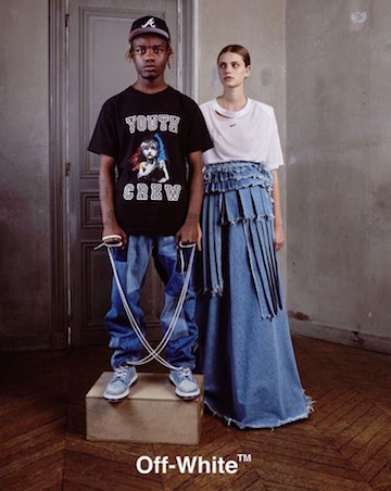 Off-White ad campaign for May 2016, featuring Ian Connor