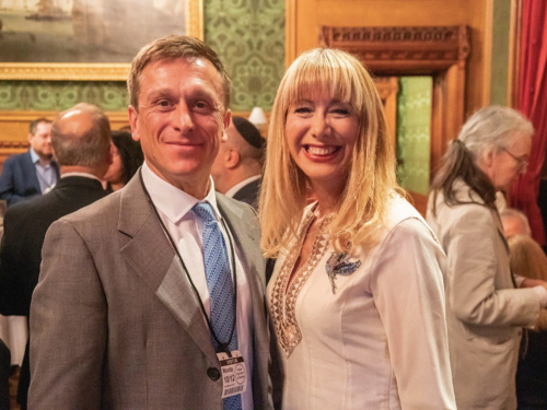 """With Jeremy Gilley the founder of """"Peace One Day"""" at 'Vision of Hope' event - House of Lords."""