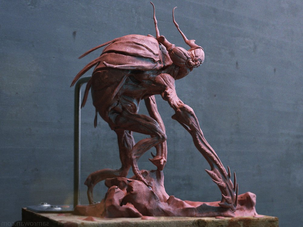 Digital Sculpting - Taking 2d concepts art and translating them into a digital sculpture to continue the design phase and assist in solving problems before production. This asset can also be passed to VFX or 3d printing for on set use.