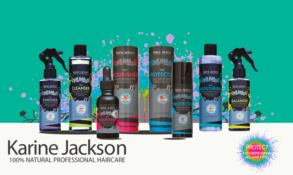 Karine Jackson™ 100% Natural Professional Haircare - Created with award-winning hair stylist, Karine Jackson, blended by Beauty Kitchen. Futureproof your hair with the 100% natural haircare range for all hair types.