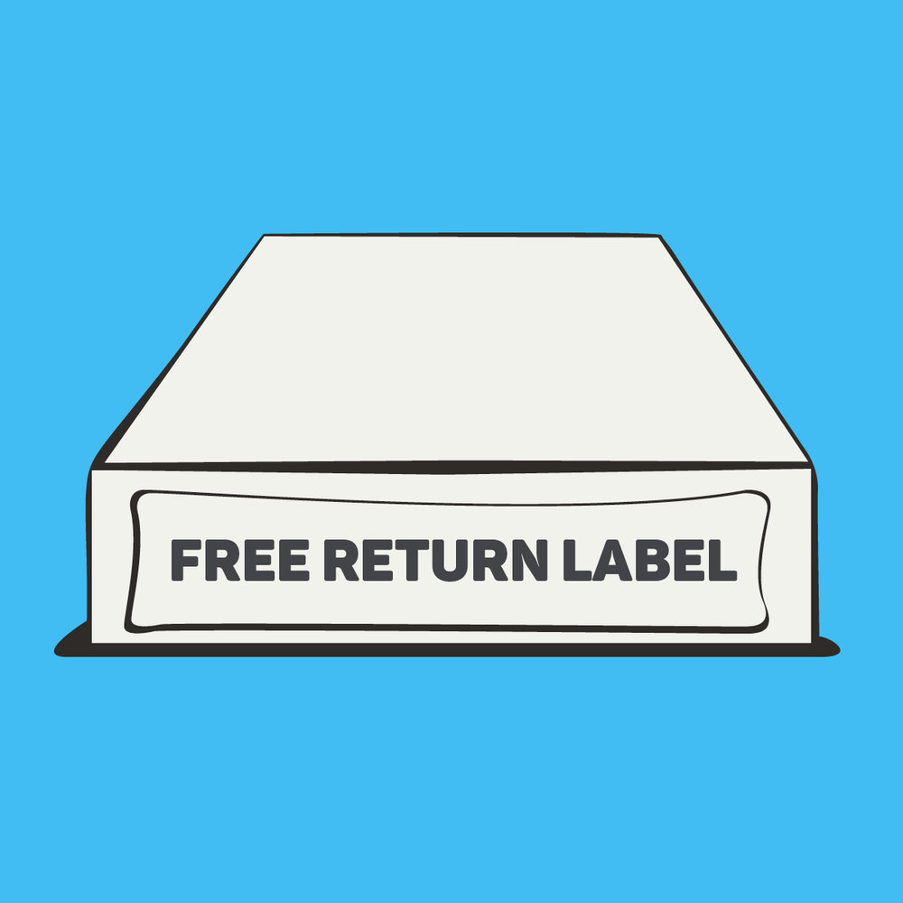 1. RETURN YOUR PACKAGING TO US - Download and print a free shipping label in just a few seconds and drop your packaging off at your nearest CollectPlus location (there's 7500 of them in the UK).. You can re-use the box you received your products in, or any spare one you have lying around.Please, please, please make sure that the packaging is secure so that it doesn't get damaged and can be reused… however avoid over-packaging!Please also try and send us back more that just one empty at a time, a few would be great… it is more sustainable and a lot less costly!