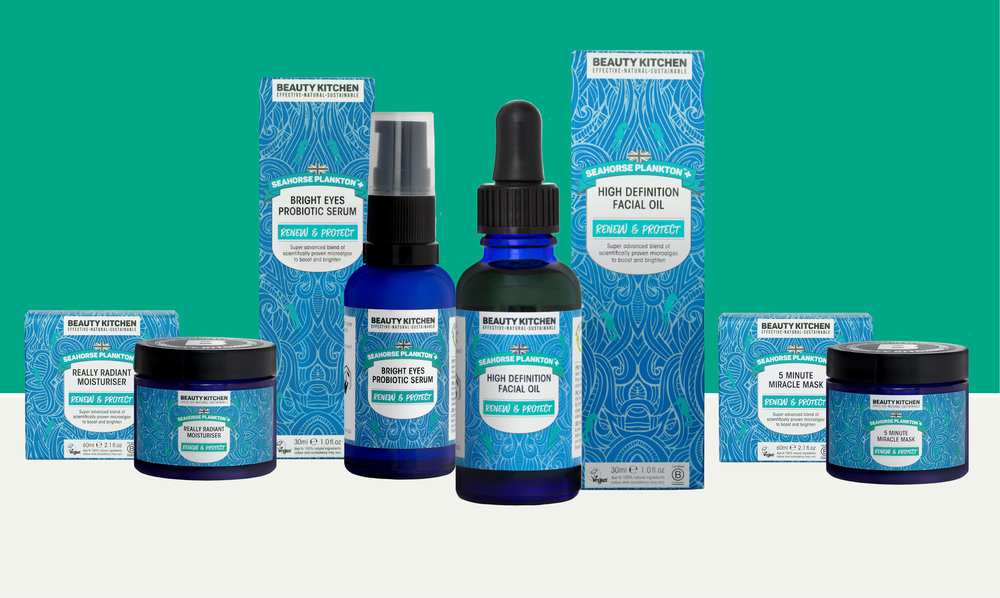 Dive into NEW Seahorse Plankton+™ - Super advanced complex of scientifically proven micro-algae to boost and brighten. In our new sustainable packaging.