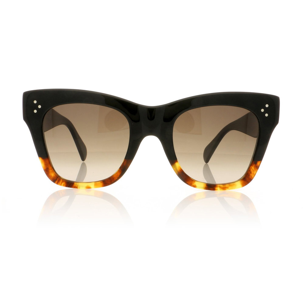 CELINE- CL40004I Sunglasses   £270 (Sold Out)   COLOUR  Black/Other/Gradient Roviex Lenses   CATEGORY  SUN   MATERIAL  Acetate   SHAPE  Cat Eye