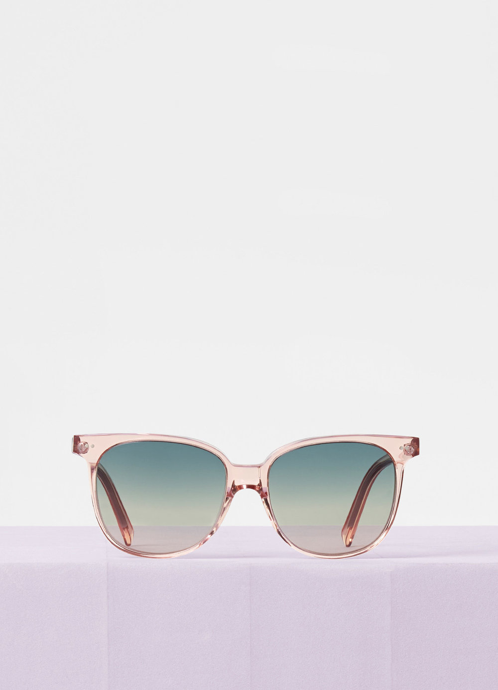 CELINE- CL400221 Sunglasses   £250   COLOUR : Transparent Pink   CATEGORY  SUN   MATERIAL  Acetate   SHAPE  Oversized