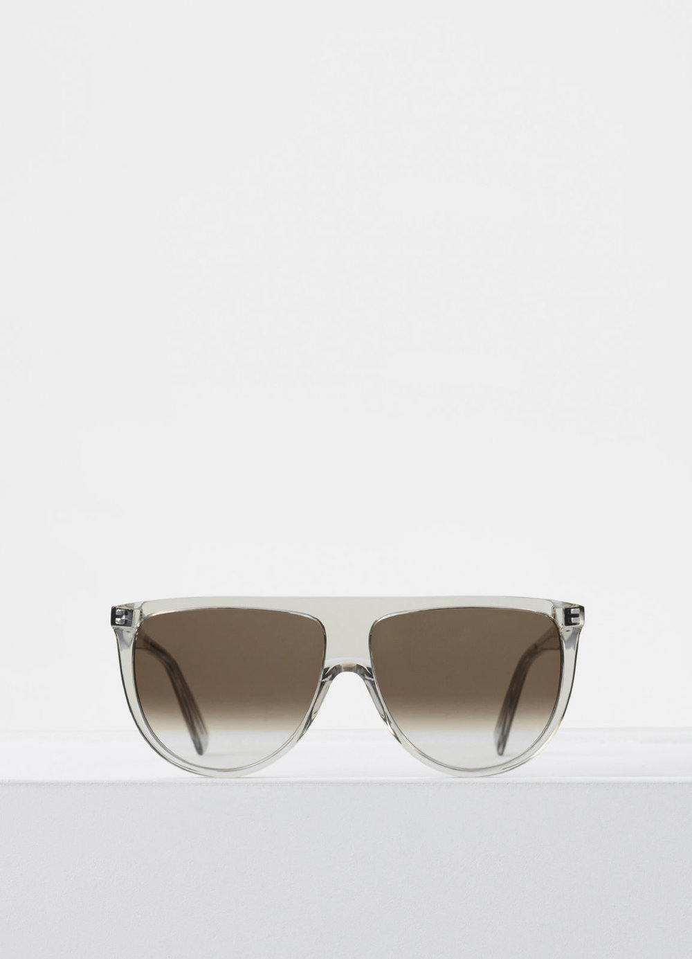 CELINE- CL40006I Sunglasses   £270   COLOUR:  Transparent   CATEGORY  SUN   MATERIAL  Acetate   SHAPE  Square