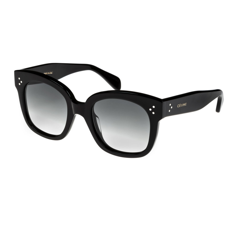 CELINE- CL40002U Sunglasses   £270 (Sold out)   COLOUR  Black   CATEGORY  SUN   MATERIAL  Acetate   SHAPE  Square