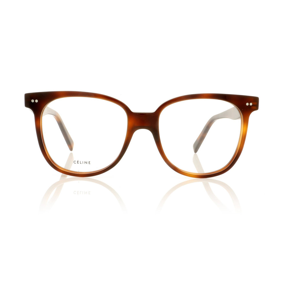 CELINE- CL50010I Optical    £240    COLOUR  53 Tortoise   CATEGORY  Opticals   MATERIAL  Acetate   SHAPE  Square
