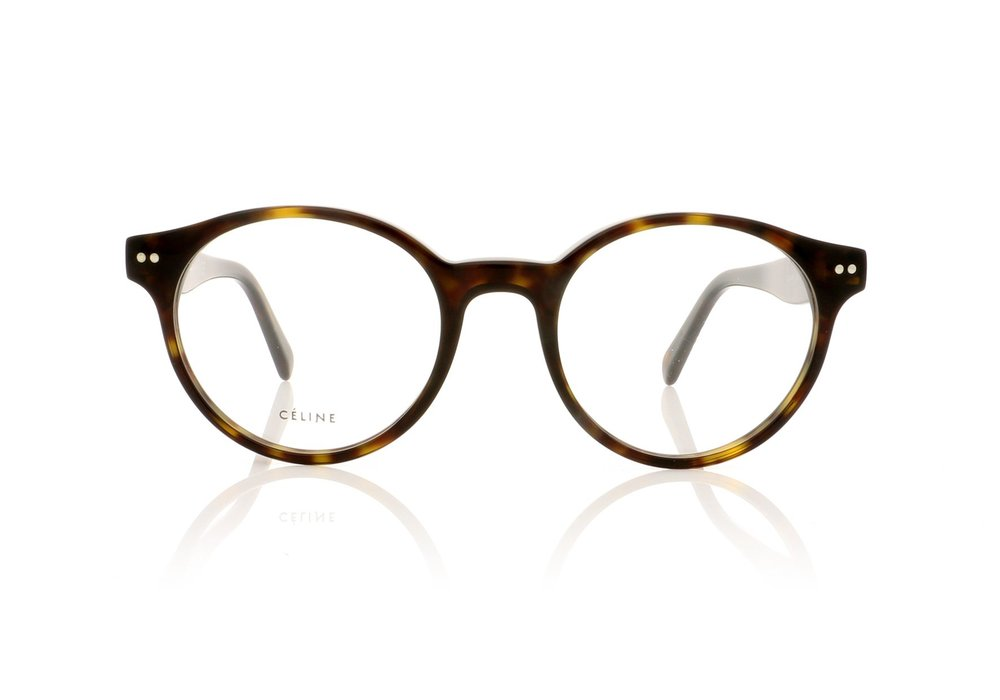 CELINE- CL50008I Optical   £240   COLOUR  Tortoise   CATEGORY  Opticals   MATERIAL  Acetate   SHAPE  Round