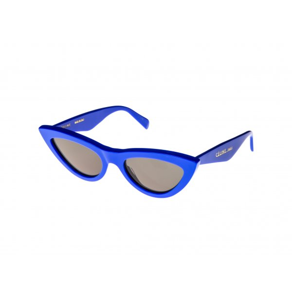 CELINE - CL40019I Sunglasses   £290   COLOUR  Electric Blue/Smoke Mirror Lenses   CATEGORY  SUN   MATERIAL  Acetate   SHAPE  Cat Eye