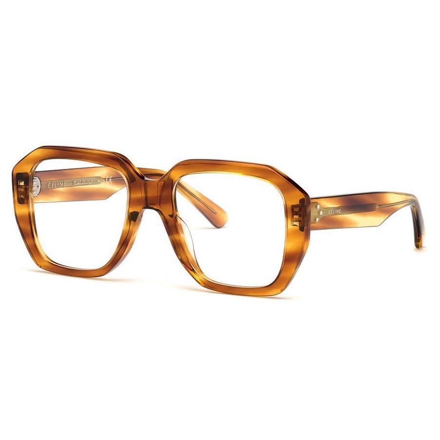 CELINE-CL50017I Opticals    £270    COLOUR  Blonde Havana   CATEGORY  Opticals   MATERIAL  Acetate   SHAPE  Square