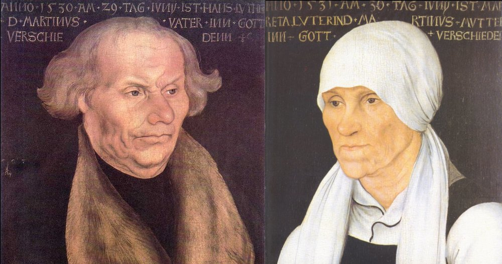 Portrait of Hans Luther, Luther's father / Portrait of Margaretha Luther, Luther's Mother – Lucas Cranach the Elder, 1527