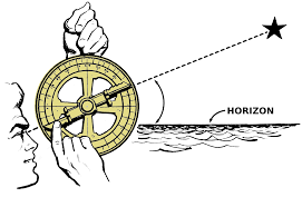 Using a mariner's Astrolabe By Pearson Scott Foresman.