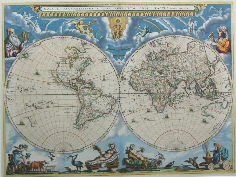 Blaeu  World Map, 1662
