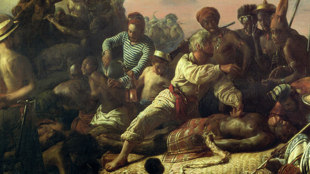 Francois August-Biard,  Slaves on the West Coast of Africa , c.1833