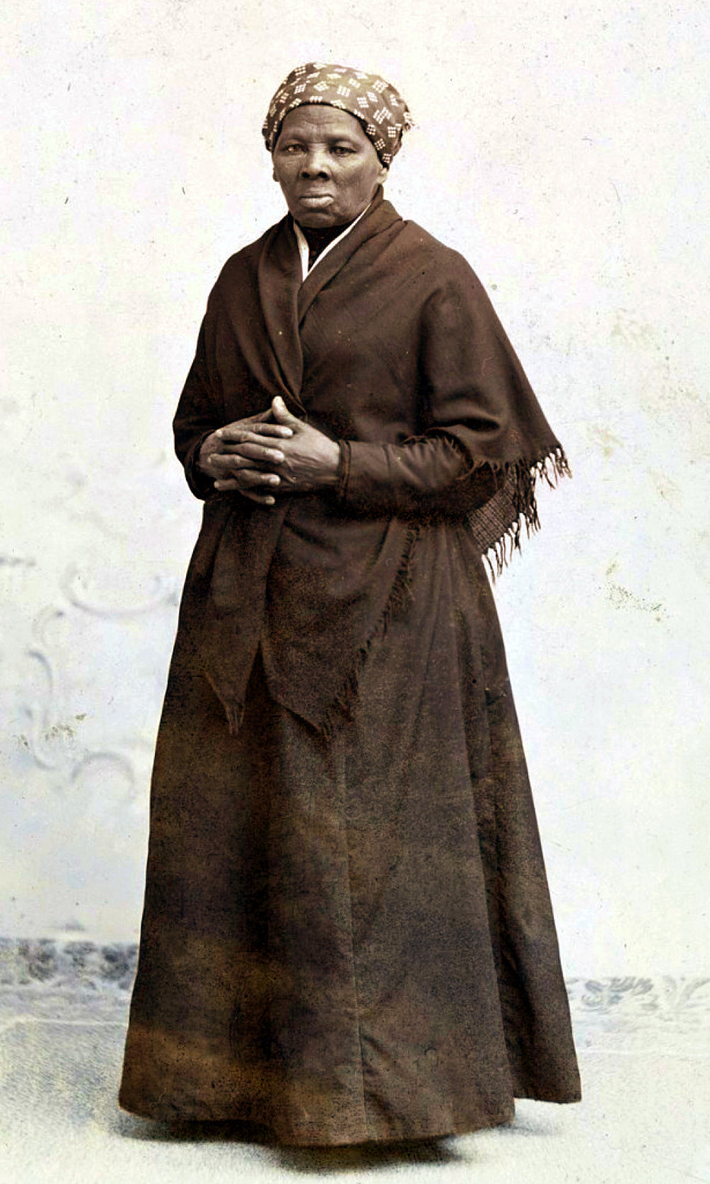 Harriet Tubman, circa 1885, by Horatio Seymour Squyur.  National Portrait Gallery.