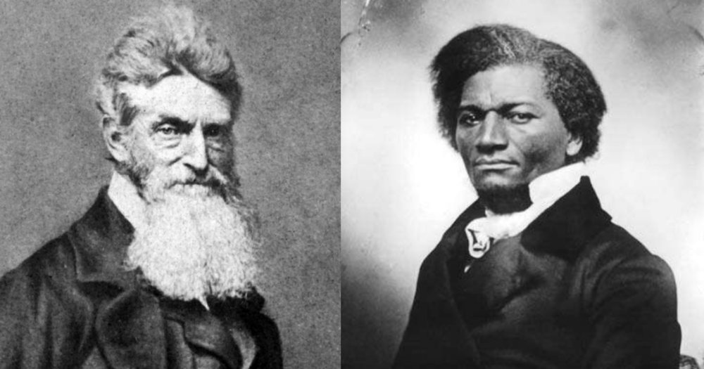 John Brown and Frederick Douglass; two very different men with one goal: ending slavery.