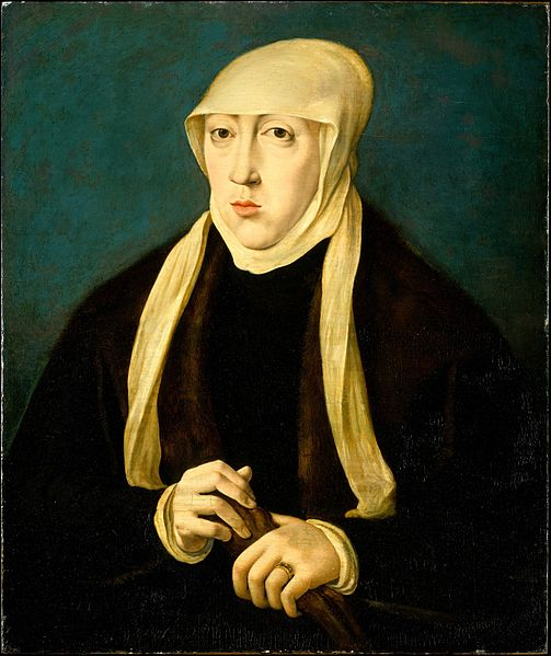 Mary (1505-1558), Queen of Hungary , Jan Cornelisz. Vermeyen .   (Forgot to bring a hat)