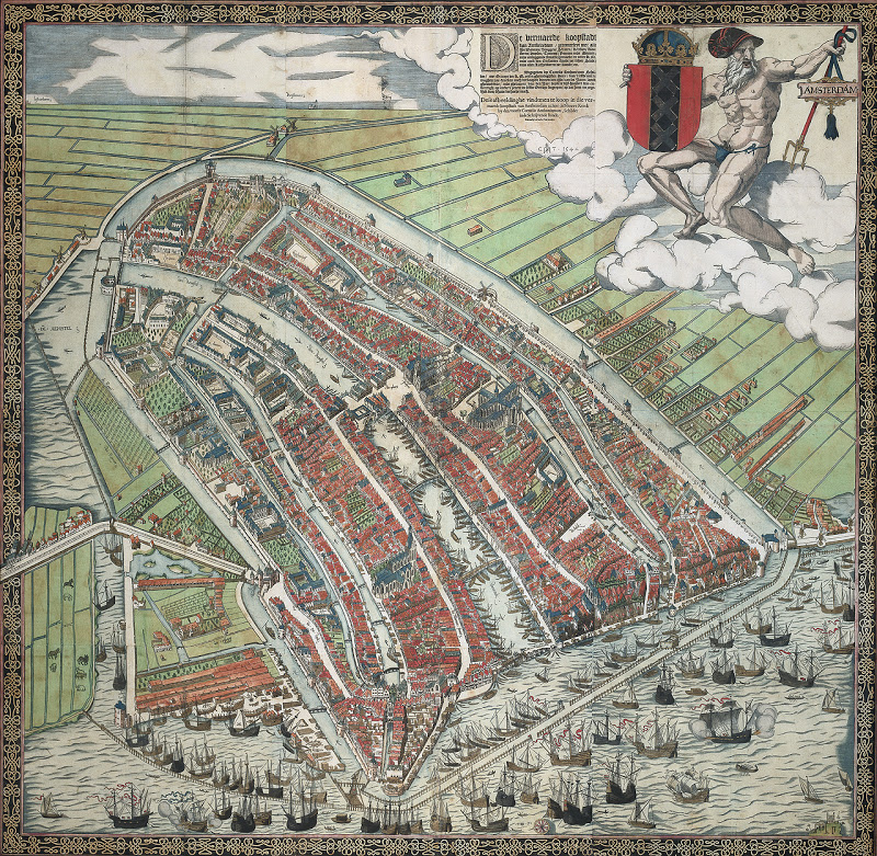 Bird's-eye view of Amsterdam,  Cornelis Anthonisz .
