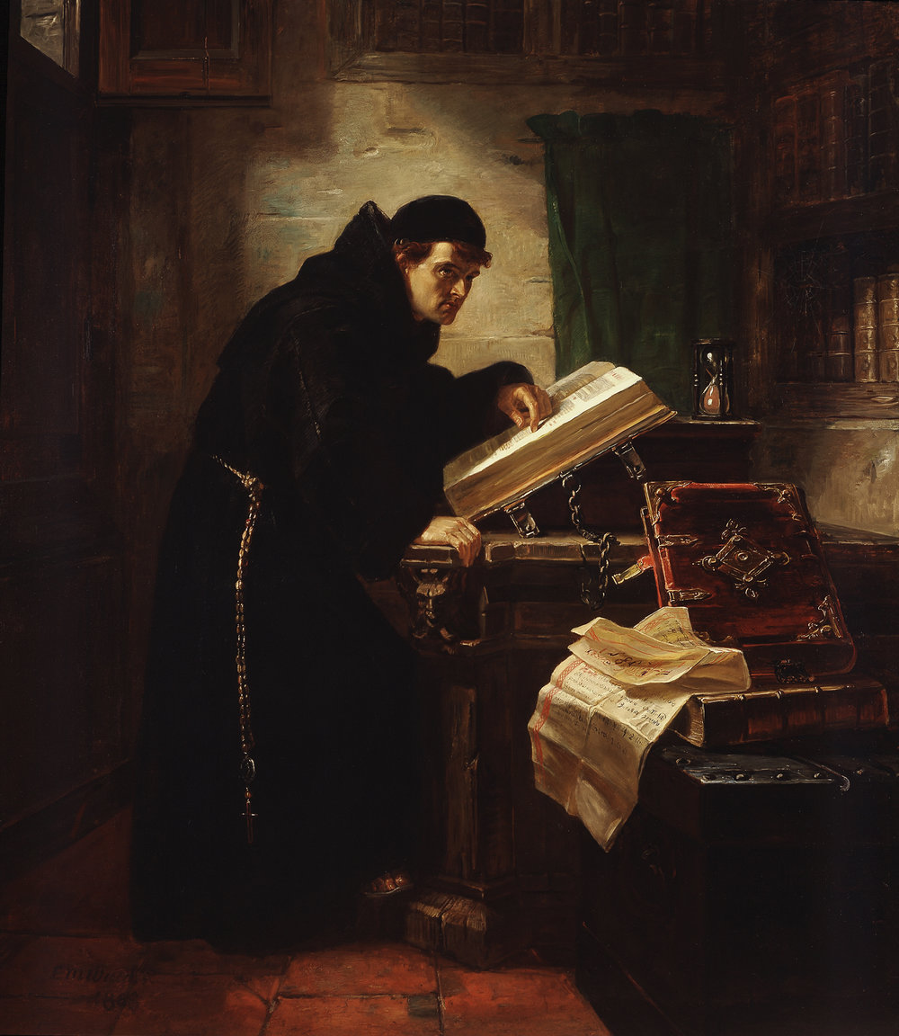 Martin Luther discovering Justification by Faith, by Edward Matthew Ward, 19th c.