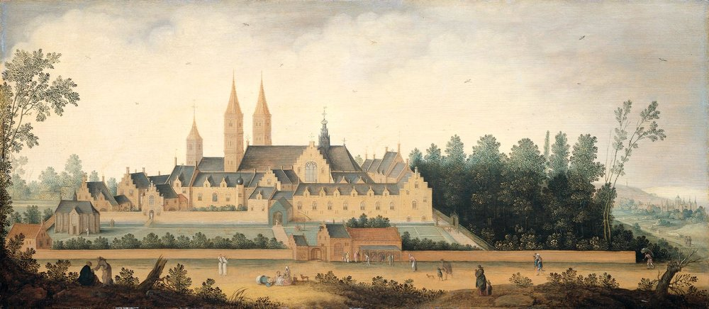 A view of Egmont Abbey, circa 1625-1630, by Claes Jacobsz van der Heck