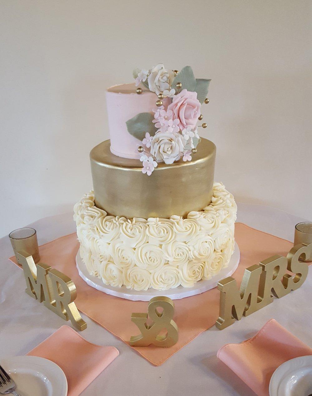 gold and rosette cake.jpg