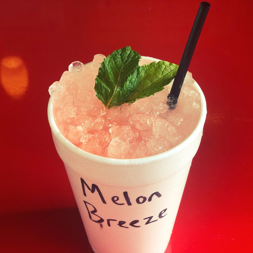 Fresca, watermelon and fresh mint leaves