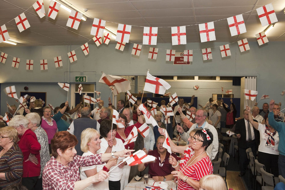 St George's Day party, Brook Street Community Centre, Tipton © Martin Parr / Magnum Photos.  Black Country Stories 2010 to 2014, commissioned by Multistory.