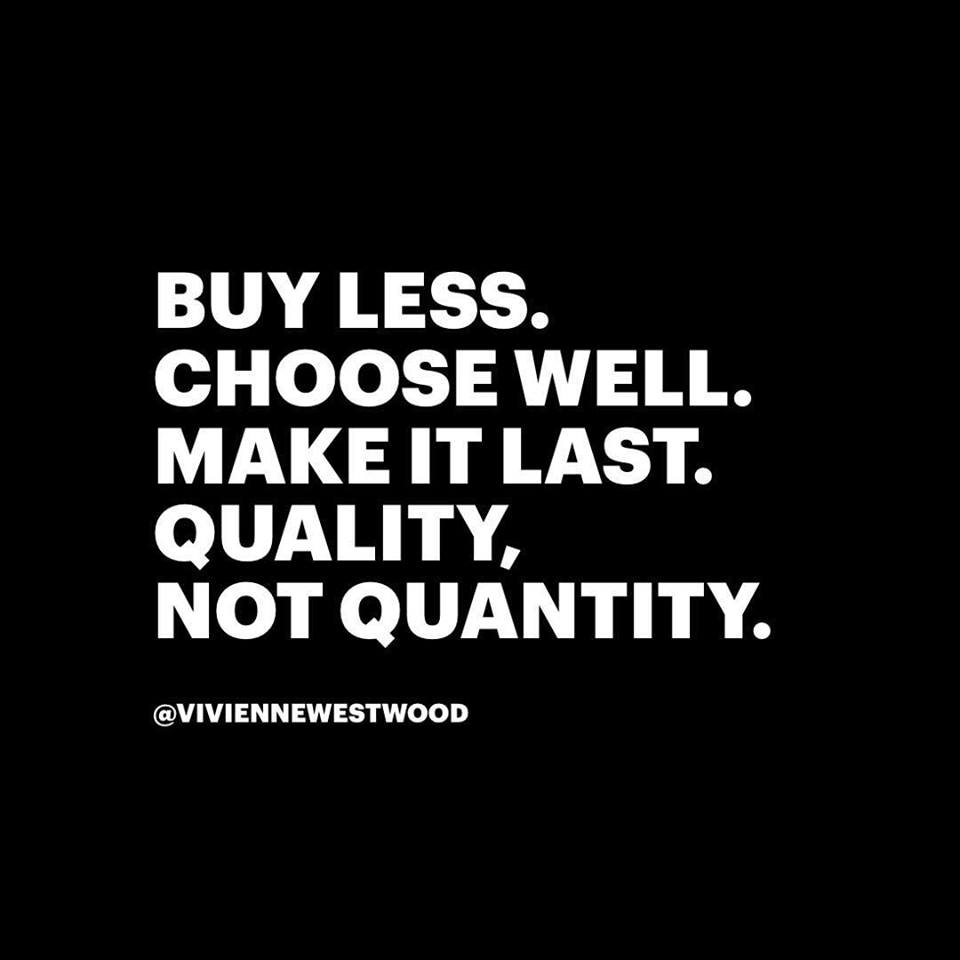 buy less... / Vivienne