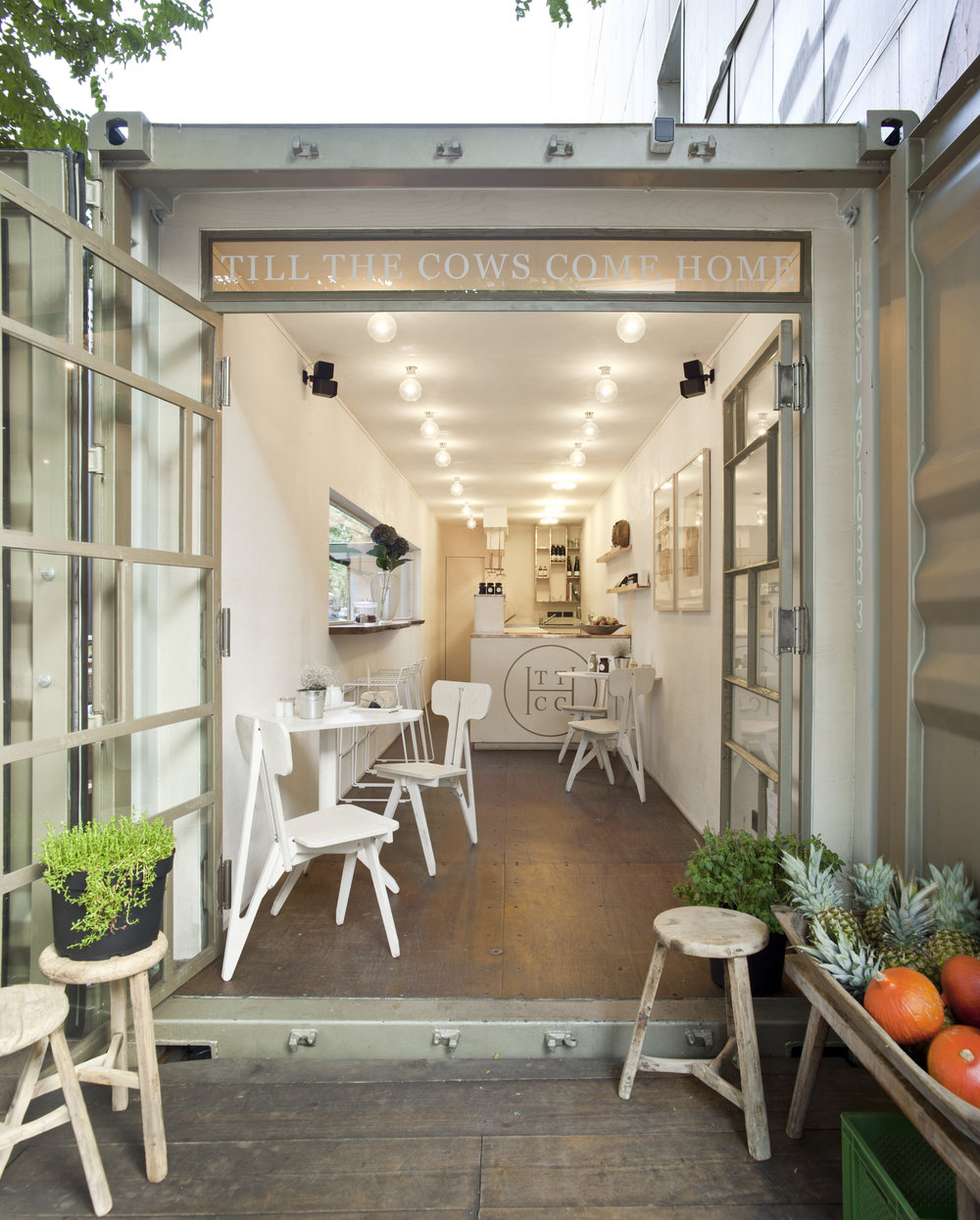 40'' HIGH CUBE CONTAINER | POP UP RESTAURANT | BERLIN MITTE
