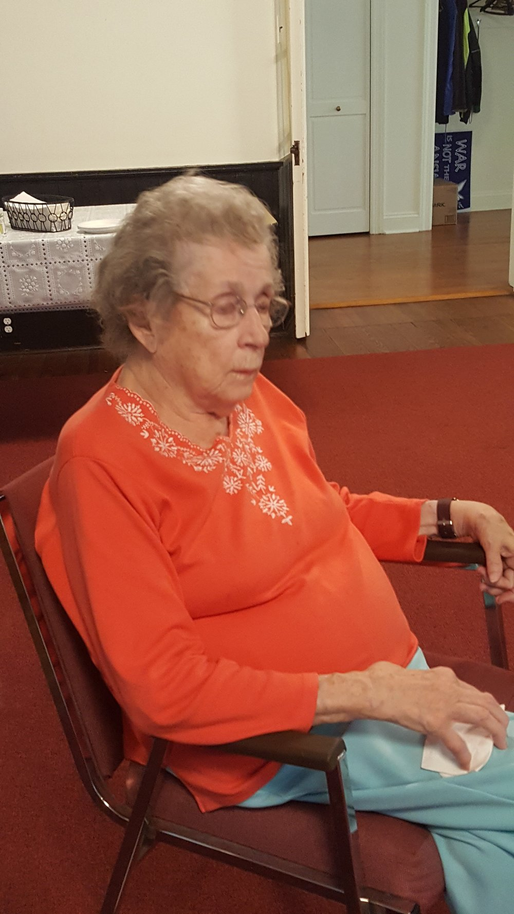 Jean spoke of her tradition of prayer and some of the favorite prayers she has learned and uses.