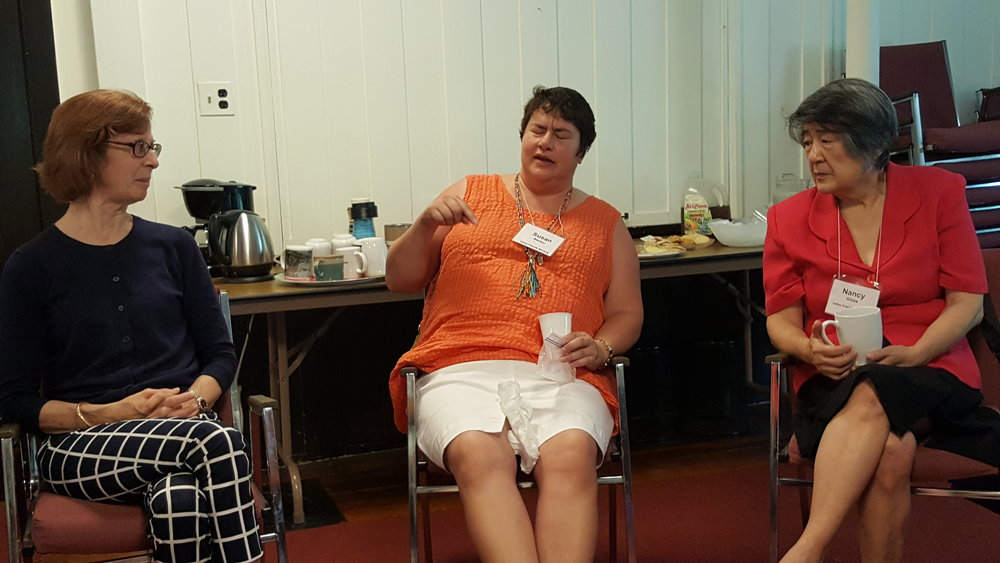 Susan explained her re-purposed rosary beads.
