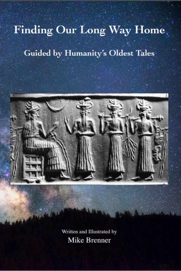 Finding Our Long Way Home      Guided by Humanity's Oldest Tales    Is it possible for texts and images in clay and stone, unearthed from Mesopotamia's ruins, to bring relief to humanity's troubles? This book proposes that indeed they could. And as we know, relief is badly needed. Physical scientists tell us that if present trends continue, the outlook for life on Earth is not good. Social scientists say the same about the outlook for our kind. As humanity's condition and the planet's condition worsen, they become frightening reflections of each other.   Finding Our Long Way Home  suggests ways in which we could use what our ancestors left behind to relieve our agonies, including war, exploitation, autocracy, and pollution and to work toward the kind of society for which we yearn. The path that the book envisions involves frank challenges to firmly held beliefs in science and religion. Given the state of our world, a measure of audacity is warranted.  Almost everyone familiar with the sagas from Mesopotamia takes their many gods to be creatures of human imagination, dreamt up to serve psychological need and political utility. To secure the help the artifacts can provide we must instead accept that they are telling, in a basically factual way, about huge humanoids that once ruled Earth. Approached in that way, the relics reveal how self-deified beings imposed unnatural circumstances on our ancestors, throwing them into confusion about their existence and making them abnormally vulnerable to traumatization and shame. In other words, the sagas reveal the roots of the human condition.  What these stories tell of our origin and early times at first makes them seem too far-fetched to be our true history, for they speak frankly of such things as an extraterrestrial intervention in human evolution. Yet when examined closely, our ancestors' tales hold up quite well. This book shows that when the stories are regarded as truthful accounts, they allow us to resolve puzzling rea
