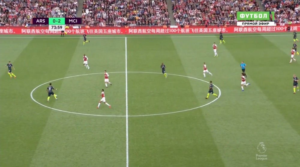 An example of Arsenal's second half shape.