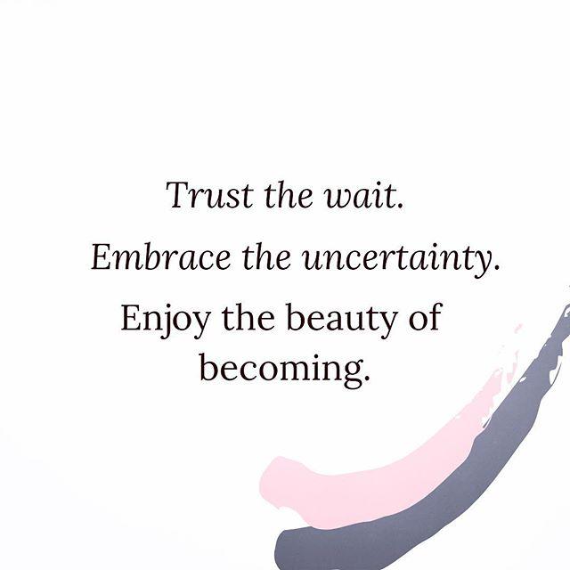 #theresapurpose don't fight it just trust the process💗