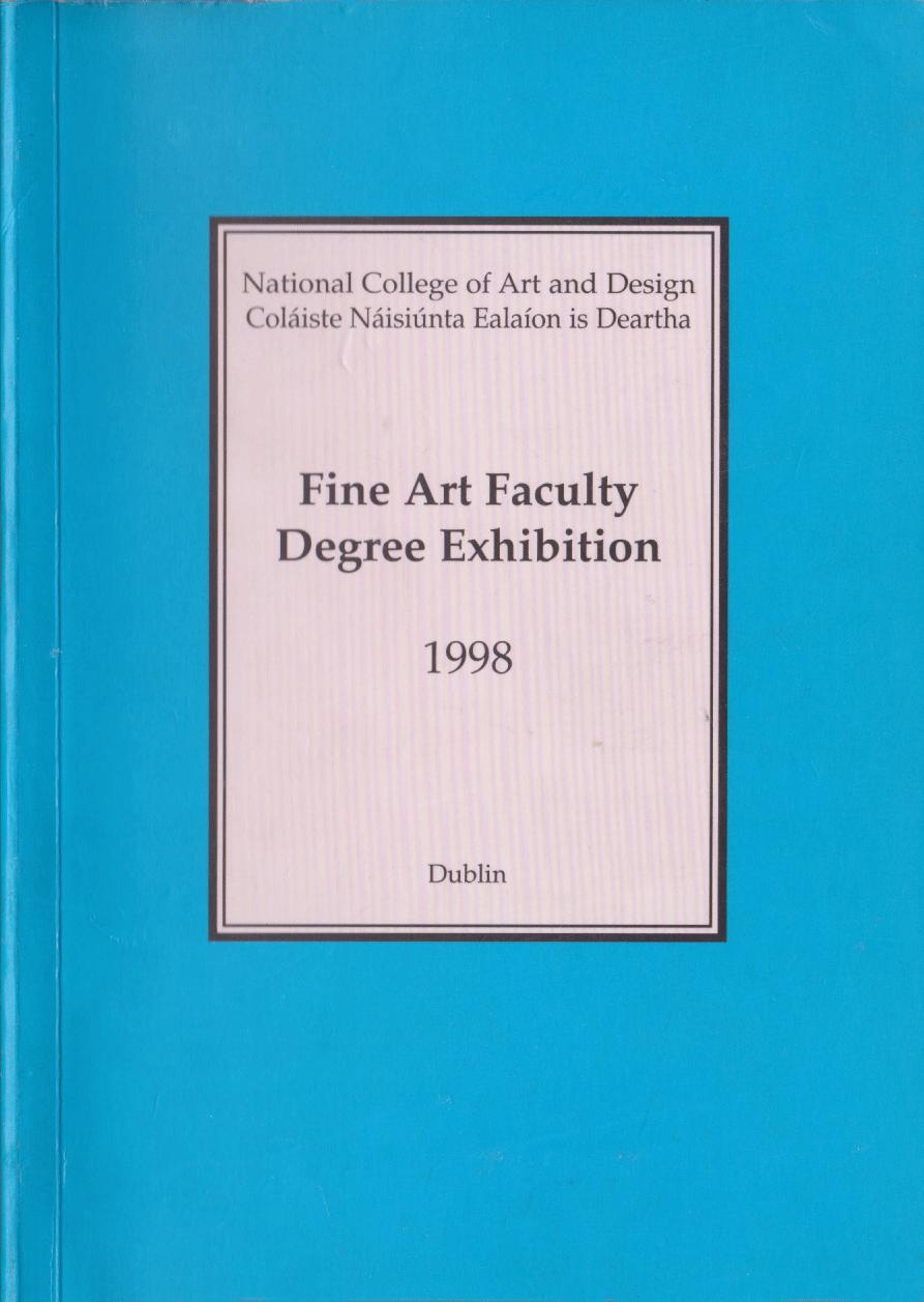 Jean Rooney Graduate Art Catalogue 1998