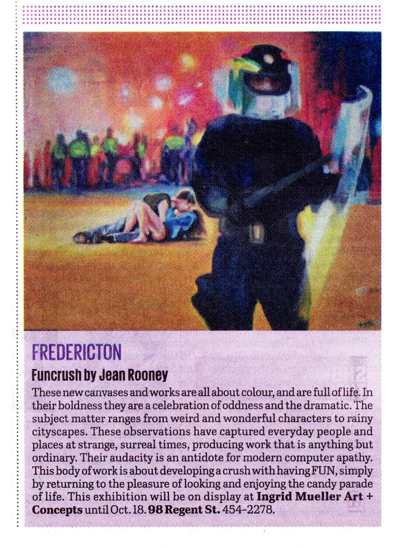 Jean Rooney Fun Crush Art Exhibition 2011