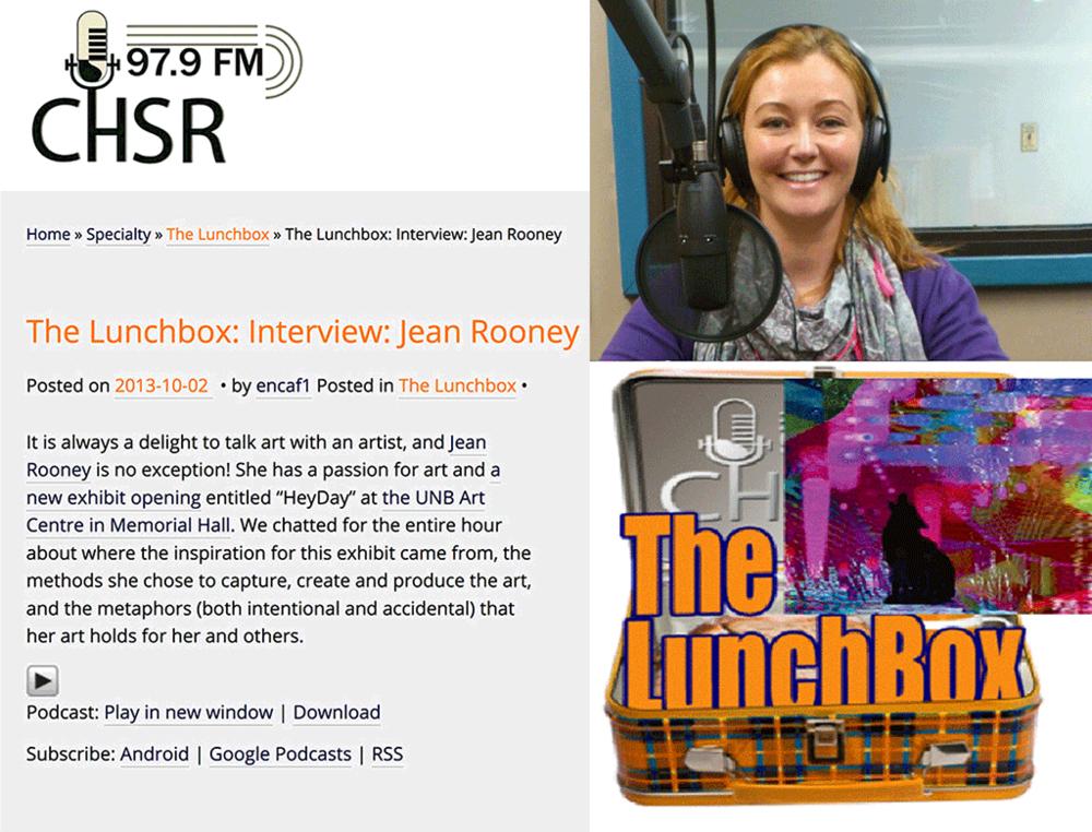 Radio Interview Rooney Exhibition CHSR FM