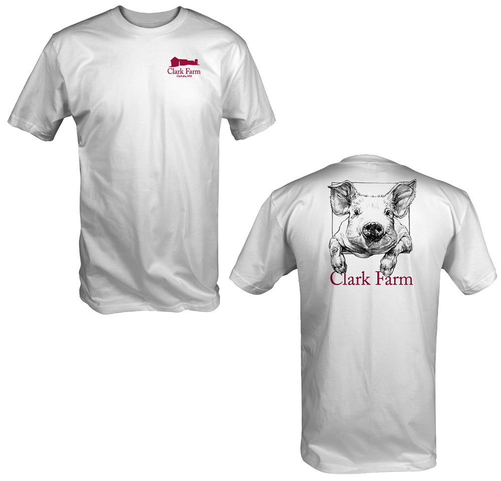 Clark Farm Pig Shirt White