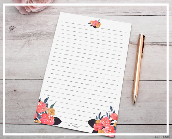 Autumn Rose Letter Writing Paper