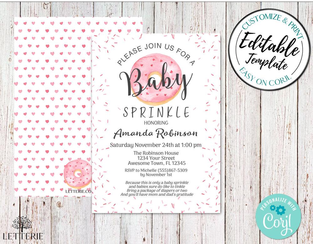 BabySprinkleDoughnutGirl_Invitation_Mockup.jpeg