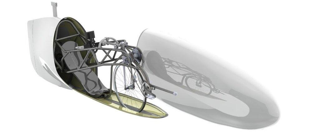 Frame, drivetrain and rear fairing design concept