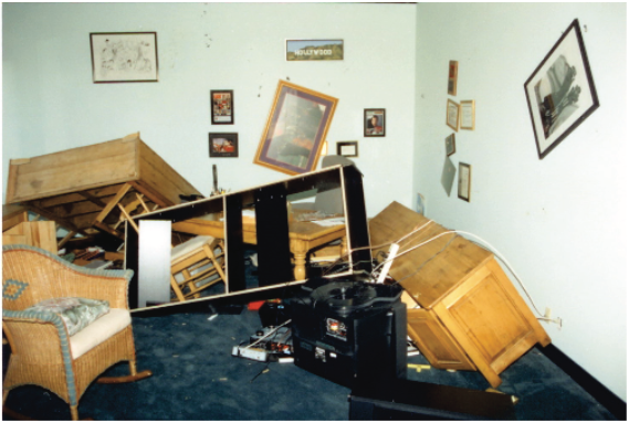Figure 1: Residential damage observed after the 1994 earthquake. Source: FEMA 74, see link below