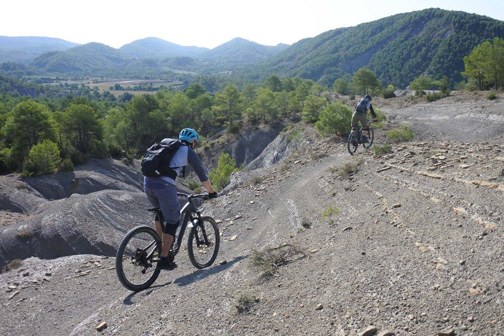 Caroline & Alex from Switzerland enjoying the trails near Ainsa