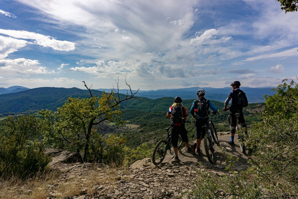 Arno, Wouter & Jeroen enjoying the views on the Bajo Peñas trails