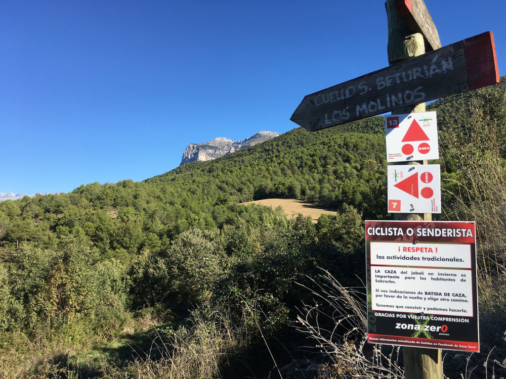 You will find the Respita signs every where on the trails and the are in English as well.