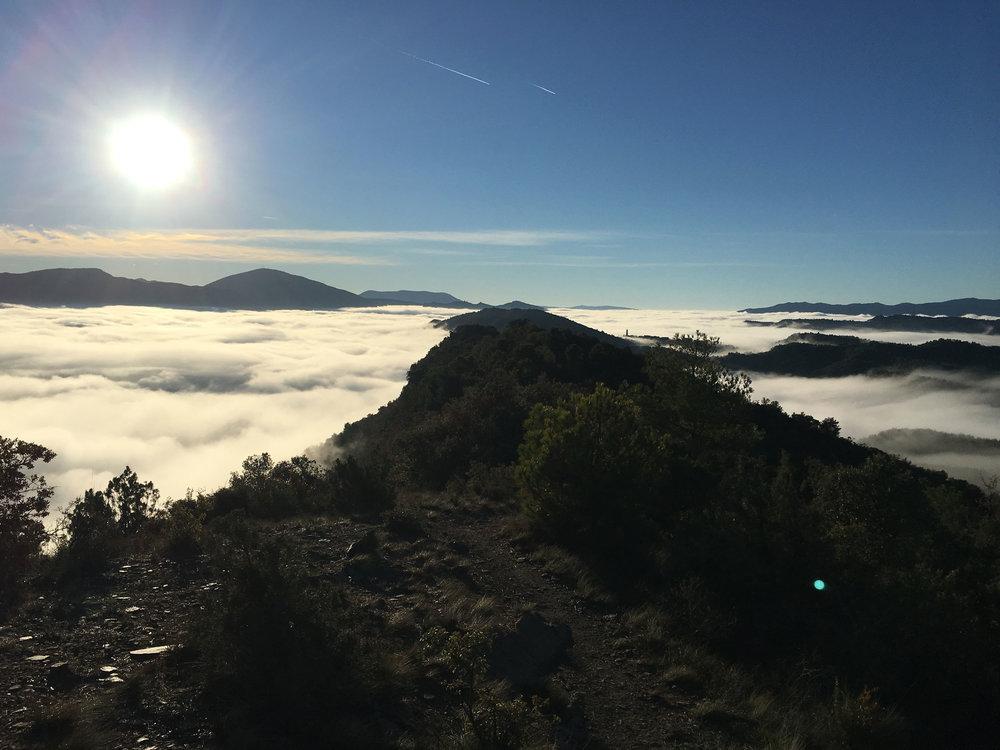 When you are lucky you can ride above the clouds on Miradores de Ainsa y Morillo