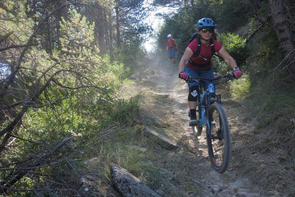 Kati enjoying the La Coasta Doble trail.